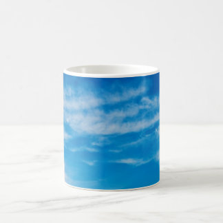 Blue Sky White Clouds Heavenly Cloud Background Basic White Mug