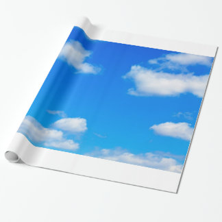 Blue Sky White Clouds Heavenly Cloud Background Wrapping Paper