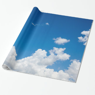 Blue Sky White Clouds Heavenly Skies Background