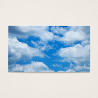 Blue Sky White Clouds Heavenly Skies Background Business Card