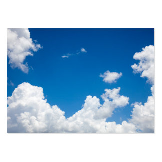 Blue Sky White Clouds Heavenly Skies Background Pack Of Chubby Business Cards