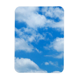 Blue Sky White Clouds Heavenly Skies Background Rectangular Photo Magnet