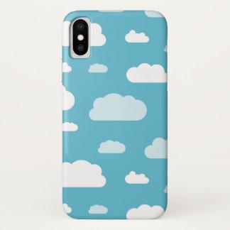 Blue sky white clouds phone case