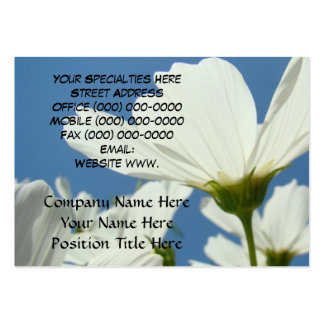 Blue Sky White Daisy Flower Garden Business Cards