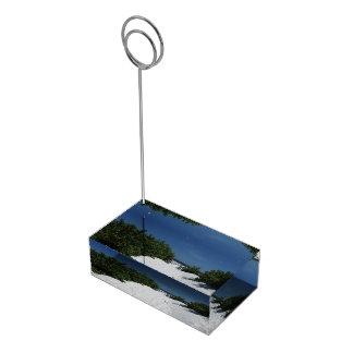 Blue Sky ~ White Sand card holder Table Card Holder