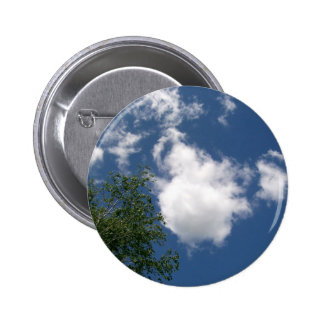 Blue Sky with Clouds and Tree Button