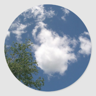 Blue Sky with Clouds and Tree Stickers