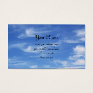 Blue sky with clouds for background business card
