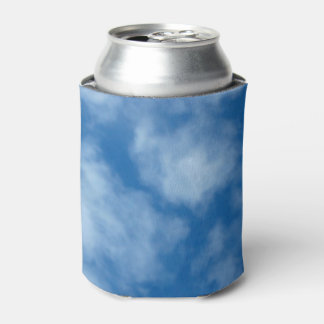 Blue Sky with Clouds Photo Can Cooler