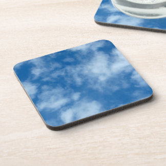 Blue Sky with Clouds Photo Coaster