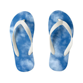 Blue Sky with Clouds Photo Kid's Thongs