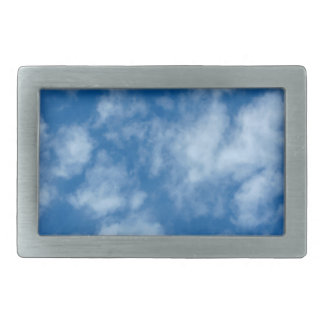 Blue Sky with Clouds Photo Rectangular Belt Buckle