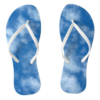 Blue Sky with Clouds Photo Thongs