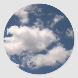 Blue Sky with Clouds Stickers