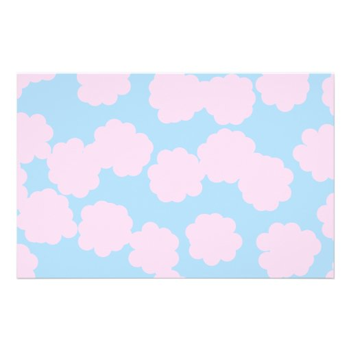 Blue Sky with Pink Clouds Pattern. Full Color Flyer