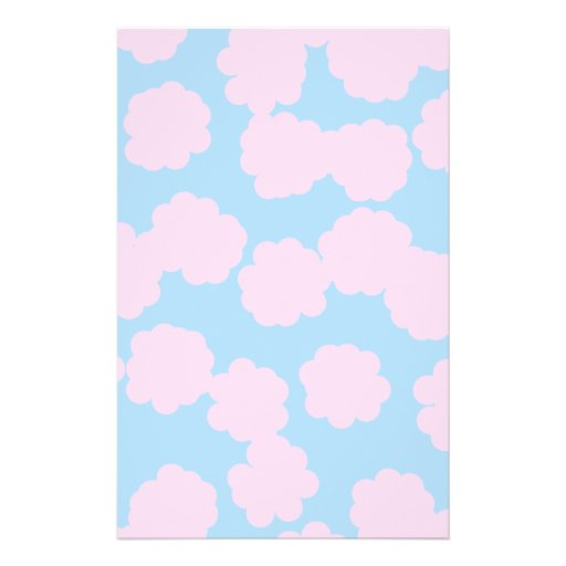 Blue Sky with Pink Clouds Pattern. Flyer