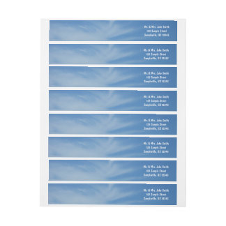 Blue Sky with White Clouds Abstract Nature Photo Wrap Around Label