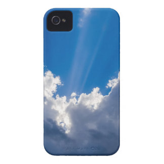 Blue sky with white clouds and ray of sunshine. Case-Mate iPhone 4 cases