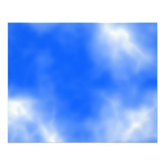 Blue sky with white clouds. flyers