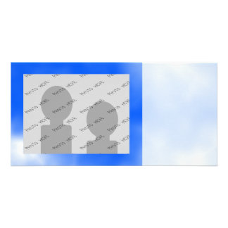 Blue sky with white clouds. photo greeting card
