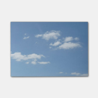 Blue Sky With White Clouds Post it Notes