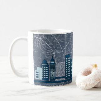 Blue Skyscraper Mug