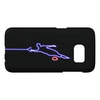 Blue Slalom Water Skier Samsung Galaxy S7 Case