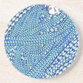 Blue sleep drink coasters