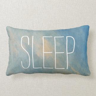 Blue Sleep Watercolor Lumbar Pillow
