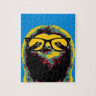 Blue Sloth Jigsaw Puzzle