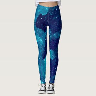 Blue slushie leggings