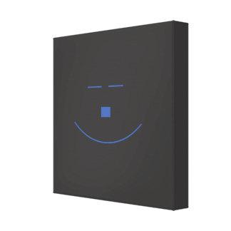 Blue Smile Face Wrapped Canvas Canvas Prints