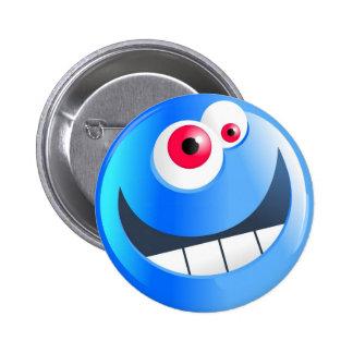blue-smilie 6 cm round badge