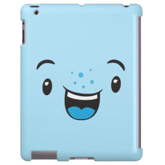 Blue Smiling Kawaii Face Case