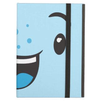 Blue Smiling Kawaii Face iPad Air Case