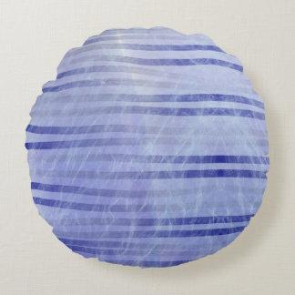 Blue Smoke and Fade Round Cushion