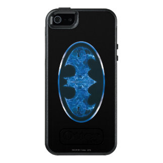 Blue Smoke Bat Symbol 2 OtterBox iPhone 5/5s/SE Case