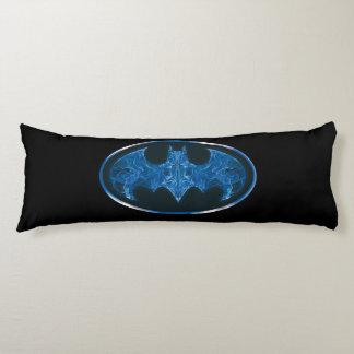 Blue Smoke Bat Symbol Body Cushion