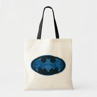 Blue Smoke Bat Symbol Budget Tote Bag