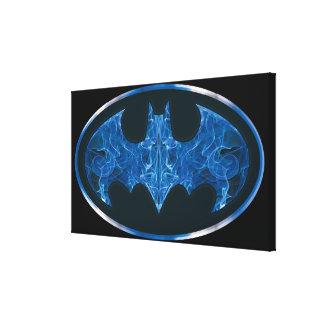 Blue Smoke Bat Symbol Gallery Wrapped Canvas