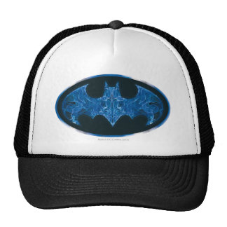 Blue Smoke Bat Symbol Hat