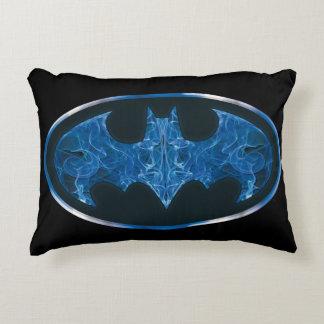Blue Smoke Bat Symbol Decorative Cushion
