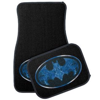 Blue Smoke Bat Symbol Floor Mat