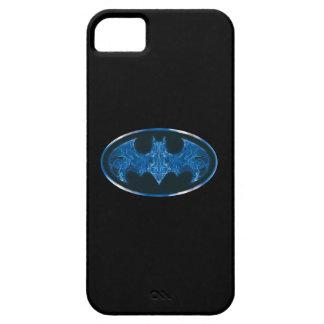 Blue Smoke Bat Symbol iPhone 5 Cover
