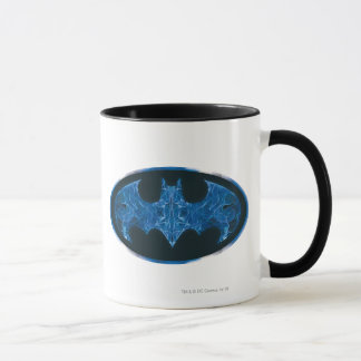 Blue Smoke Bat Symbol Mug