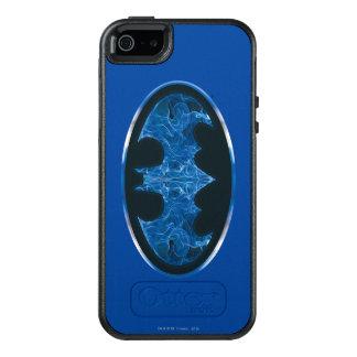 Blue Smoke Bat Symbol OtterBox iPhone 5/5s/SE Case