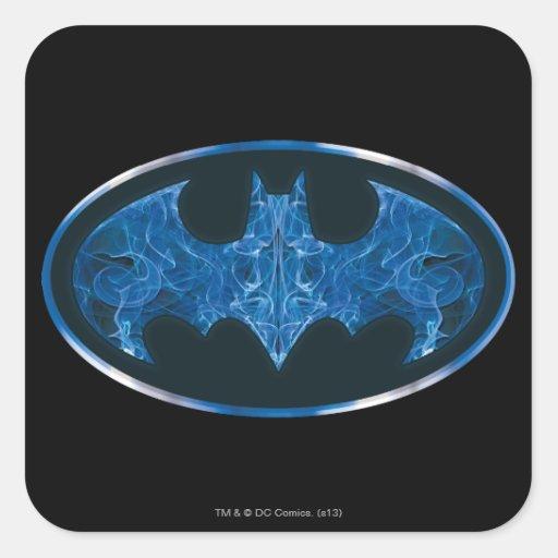 Blue Smoke Bat Symbol Sticker