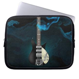 Blue Smoke Electric Guitar Electronics Bag Computer Sleeve