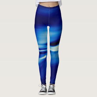 Blue smooth flow legging
