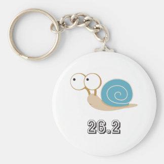 Blue Snail 26.2 (marathon) Key Chains
